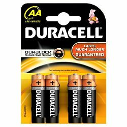 BATERIJA AA Duracell BASIC K4 Duralock 4 kom
