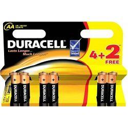 Baterija AA DURACELL BASIC K4 DURALOCK 4 kom +2kom