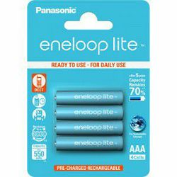 Baterija AAA PANASONIC ENELOOP NI-MH 550 mAh BK-4LCCE4BE 4 K