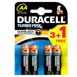 Baterija DURACELL TURBOMAX AA 3 + 1 gratis