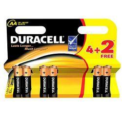 Baterija DURACELL BASIC AA 4 + 2 gratis