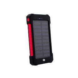 Prijenosna baterija POWERBANK IPS-808, 8 000 mAh solarna crna