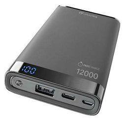Baterija prijenosna MANTA CELLULARLINE 12 000 mAh USB-C crna