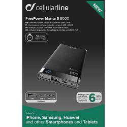 Baterija prijenosna POWERBANK CELLULARLINE MANTA 8000 mAh USB-C crna