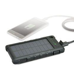 Baterija prijenosna POWERBANK PORT 8 000 mAh solarna crna