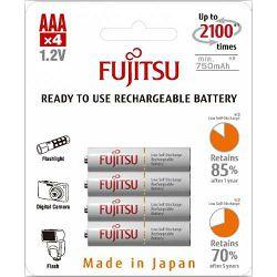 Baterija punjiva AAA FUJITSU 750 mAh HR-4UTCEU (4B)