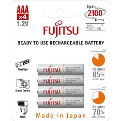 Baterija AAA FUJITSU HR-4UTCEX (4B) 750mAh bijele