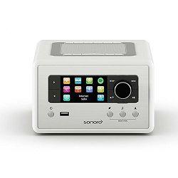 Bežični Hi-Fi zvučnik SONORO RELAX bijeli (Wi-Fi, Bluetooth, Spotify, FM i DAB+ , USB, AUX)