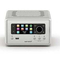 Bežični Hi-Fi zvučnik SONORO RELAX silver (Wi-Fi, Bluetooth, Spotify, FM i DAB+ , USB, AUX)