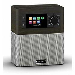 Bežični Hi-Fi zvučnik SONORO STREAM bog oak decor/silver (Wi-Fi, internet radio, Spotify, Multiroom, Bluetooth)