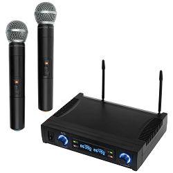Bežični set mikrofona SAL, 2 bežična mikrofona i prijemnik, 100 met.