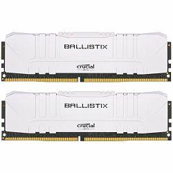 Crucial DRAM Ballistix White 2x16GB (32GB Kit) DDR4 3000MT/s  CL15  Unbuffered DIMM 288pin White, EAN: 649528824561