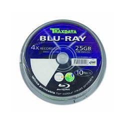 Blu-ray TRAXDATA 25GB 4X PRINTABLE CAKE 10