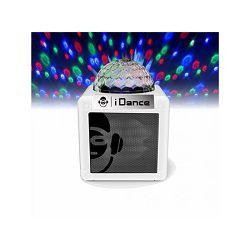 Party zvučnik iDance NANO CN2 bijeli (Bluetooth, disco kugla, 5W, baterija)