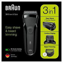 Brijaći aparat BRAUN 300BT crni (3 u 1)