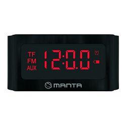 Budilica sa FM radiom MANTA CLK013, BT, HandsFree, microSD, baterija, LED zaslon