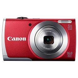 Fotoaparat CANON PowerShot A3500 IS crveni + poklon memorijska kartica 8GB