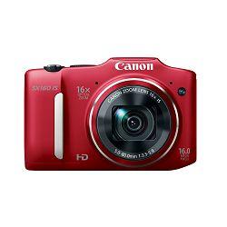 Fotoaparat CANON PowerShot SX160 IS crveni + poklon memorijska kartica 8GB