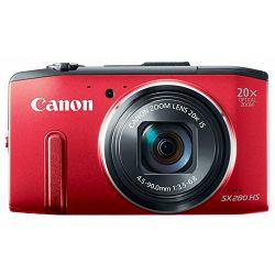 Fotoaparat CANON PowerShot SX280HS crveni + poklon memorijska kartica 8GB