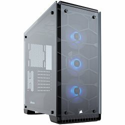 Corsair Crystal Series 570X RGB, Tempered Glass, Premium ATX Mid-Tower, SP120 RGB LED fans with LED controller