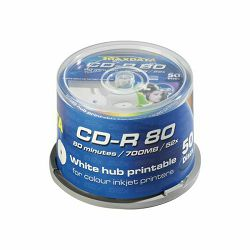 CD-R TRAXDATA CD-R CAKE 50 PRINT BIJELI - 1kom