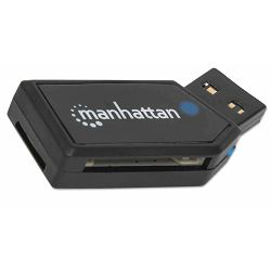Čitač Kartica Manhattan USB 2.0 Mini Multi-Card Reader & Writer, Hi-Speed USB, Mobile, 24-in-1