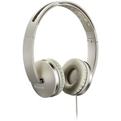 Stereo headphone with microphone and switch of answer/end phone call, cable 1.2M, Beige