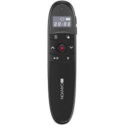 2.4Ghz laser wireless presenter, red laser indicator, LCD display timer, Black