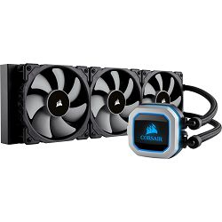 Corsair Hydro Series, H150i PRO, 360mm Radiator, Advanced RGB Lighting and Fan Control with Software, Liquid CPU Cooler, Triple 120mm ML Series PWM Fans