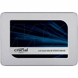 SSD CRUCIAL MX500 2TB, 2.5 7mm (with 9.5mm adapter), SATA 6 Gbit/s, Read/Write: 560 MB/s / 510 MB/s, Random Read/Write IOPS 95K/90K