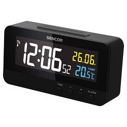 Digitalni sat SENCOR SDC 4800 B s alarmom i termometrom