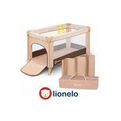 Dječji prijenosni krevetić LIONELO Suzie bež-pruge