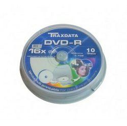 DVD-R TRAXDATA 16X CAKE10 10kom