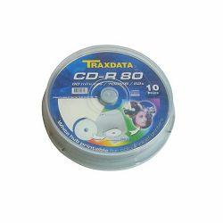 DVD-R TRAXDATA 4,7GB CAKE 10 PRINT BIJELI - 10kom