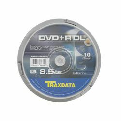 DVD+R DL TRAXDATA 8,5 GB CAKE 10 - 1 kom