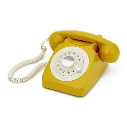 Telefon GPO RETRO 746 ROTARY žuti