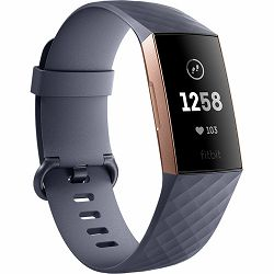 Fitness narukvica FITBIT CHARGE 3 Rose gold/Blue