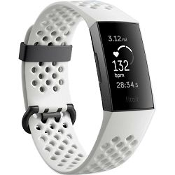 Fitness narukvica FITBIT Charge 3 Special Edition Graphite/White Silicone