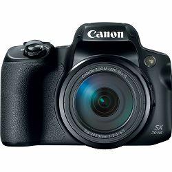Fotoaparat CANON SX70 HS, 20MP, 65x zoom, WiFi, 4k, crni