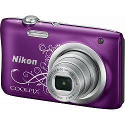 Fotoaparat NIKON COOLPIX A100 Purple Lineart + torbica