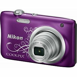 Fotoaparat NIKON COOLPIX A100 Purple + SD 16GB + torbica