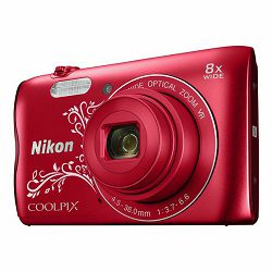 Fotoaparat NIKON COOLPIX A300 red line art