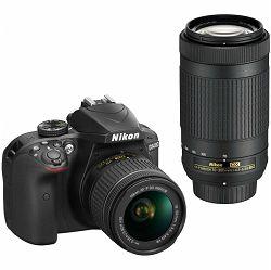 Fotoaparat NIKON D3400 KIT AF-P 18-55 VR + AF-P 70-300VR