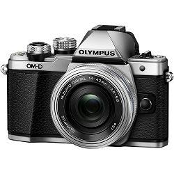 Fotoaparat OLYMPUS E-M10 II V207052SE (Pancake Zoom kit) srebrni