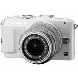 Fotoaparat OLYMPUS E-PL6 Body bijeli + objektiv M.Zuiko 14-42mm 1:3.5 - 5.6 II R srebrni + objektiv M.Zuiko 40-150mm 1:4.0 - 5.6 srebrni