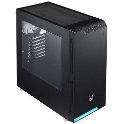 Kućište FORTRON CMT240 crno s prozorom bez napajanja ATX