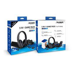 Gaming set DOBE TP4-18101 (Slušalice, dual charge dock, grips, storage stand, kabel za punjenje)