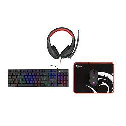 Gaming set SBOX GC-4102 COMANCHE-2 (tipkovnica, miš, podloga i slušalice)