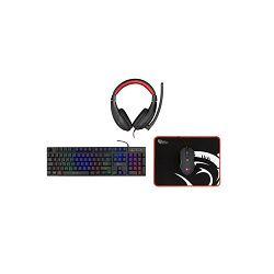Gaming set WHITE SHARK GC-4102 tipkovnica + imiš + podloga + slušalice