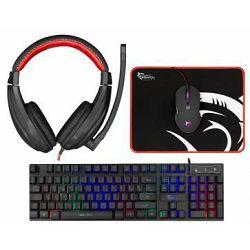 Tipkovnica + miš WHITE SHARK GC-4104 (gaming set, membranska, LED osvjetljenje, crna)